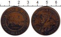 Изображение Монеты Австралия 1 пенни 1934 Бронза XF-