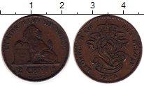 Изображение Монеты Бельгия 2 сантима 1874 Медь XF