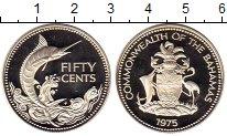 Изображение Монеты Багамские острова 50 центов 1975 Серебро Proof