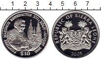 Изображение Монеты Сьерра-Леоне 10 долларов 2005 Серебро Proof