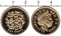 Изображение Монеты Великобритания 1 фунт 2002 Латунь Proof
