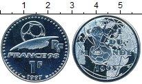Изображение Монеты Франция 1 франк 1998 Серебро UNC