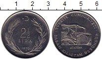 Изображение Монеты Турция 2 1/2 лиры 1970 Медно-никель UNC-