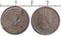 Изображение Монеты Карибы 10 центов 1962 Медно-никель XF
