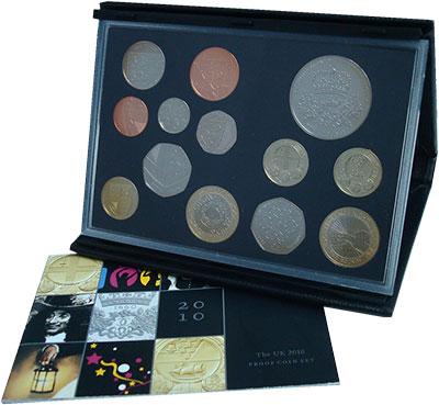 Изображение Подарочные монеты Великобритания Новые гербы 2010 2010  Proof Подарочный набор сос