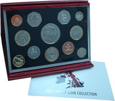 Изображение Подарочные монеты Великобритания Новые гербы 2007 2007  Proof Подарочный набор сос