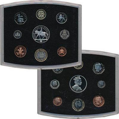 Изображение Подарочные монеты Великобритания Новые гербы 2002  Proof Подарочный набор сос