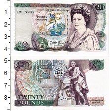 Банкнота Великобритания 20 фунтов UNC- фото
