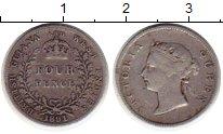 Изображение Монеты Великобритания Британская Гвиана 4 пенса 1891 Серебро XF-