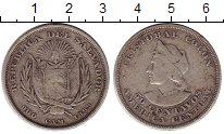 Изображение Монеты Сальвадор 50 сентаво 1893 Серебро VF