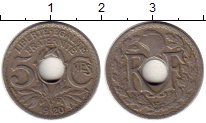 Изображение Монеты Франция 5 сантим 1920 Медно-никель XF