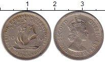 Изображение Монеты Карибы 10 центов 1956 Медно-никель XF