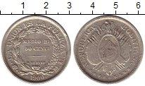 Изображение Монеты Боливия 50 сентаво 1900 Серебро XF