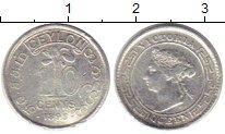 Изображение Монеты Шри-Ланка Цейлон 10 центов 1893 Серебро VF
