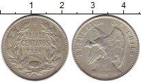 Изображение Монеты Чили 20 сентаво 1920 Серебро XF-