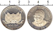 Изображение Монеты Нигер 500 франков 1960 Серебро Proof-