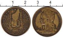 Изображение Монеты Мадагаскар 20 франков 1953 Латунь VF