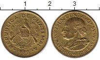 Изображение Монеты Гватемала 1 сентаво 1970 Латунь XF