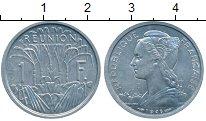 Изображение Монеты Франция Реюньон 1 франк 1948 Алюминий UNC-