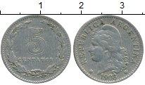 Изображение Монеты Аргентина 5 сентаво 1908 Медно-никель XF