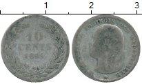 Изображение Монеты Нидерланды 10 центов 1865 Серебро VF