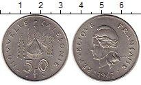 Изображение Монеты Франция Новая Каледония 50 франков 1967 Медно-никель XF
