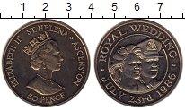 Изображение Монеты Великобритания Остров Святой Елены 50 пенсов 1986 Медно-никель XF