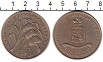 Изображение Монеты Сент-Винсент 4 доллара 1970 Медно-никель UNC-