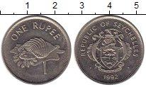 Изображение Монеты Сейшелы 1 рупия 1992 Медно-никель UNC-