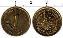 Монета Эквадор 1 сентаво Латунь 2000 UNC-