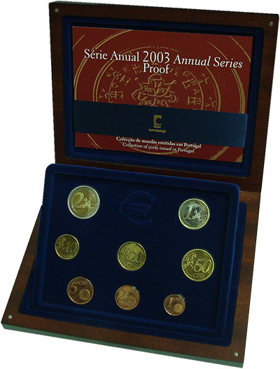 Изображение Подарочные монеты Португалия Набор 2003 года 2003  Proof В набор входят восем