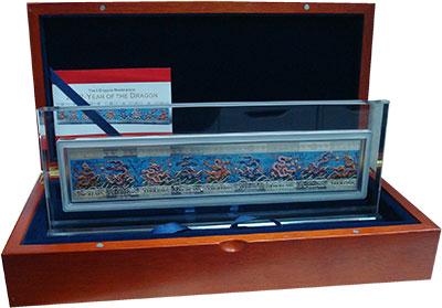 Изображение Подарочные монеты Ниуэ Стена девяти драконов 2012 Серебро Proof Набор из девяти моне