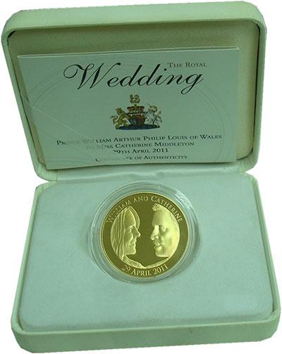 Монета Великобритания 5 фунтов Серебро 2011 Proof фото