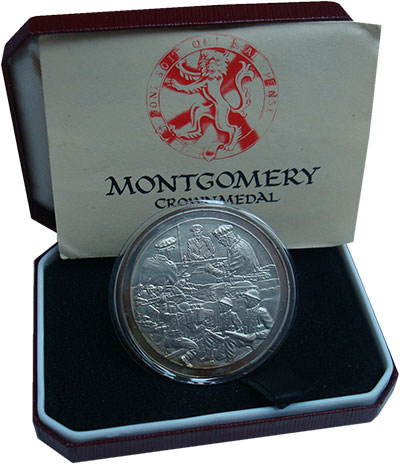 Изображение Подарочные монеты Великобритания Медаль 1976 Серебро Proof Фельдмаршал Сэр Берн