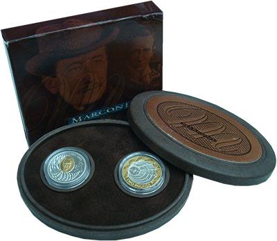 Изображение Подарочные монеты Канада Гульельмо Маркони 2001 Серебро Proof 100-летие первого се
