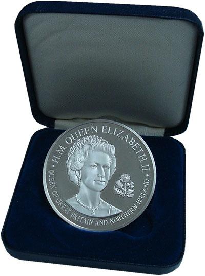 Изображение Подарочные монеты Великобритания Медаль 1976 Серебро Proof- Визит Елизаветы II в