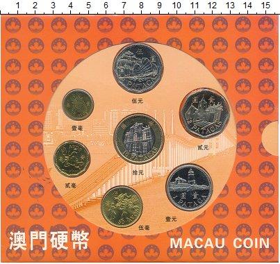Изображение Подарочные монеты Макао Набор 1993-2003 гг 0 Биметалл UNC Набор монет Макао ре