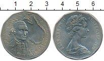 Монета Австралия 50 центов Медно-никель 1970 UNC фото