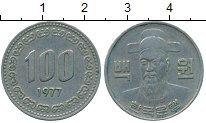 Изображение Монеты Южная Корея 100 вон 1977 Медно-никель XF