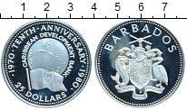 Изображение Монеты Барбадос 25 долларов 1980 Серебро Proof-