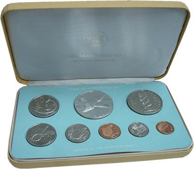 Изображение Подарочные монеты Острова Кука Выпуск 1976 года 1976  Proof Подарочный набор 197