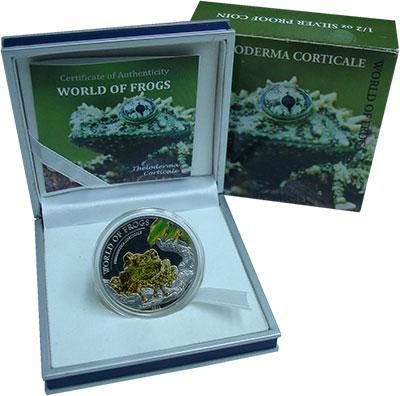 Изображение Монеты Палау 2 доллара 2011 Серебро Proof Цветная. Мир лягушек