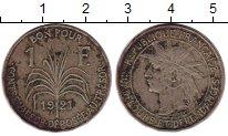 Изображение Монеты Гваделупа 1 франк 1921 Медно-никель VF+