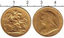 Изображение Монеты Великобритания 1 соверен 1893 Золото VF