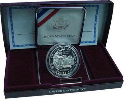 Изображение Монеты США 1 доллар 1999 Серебро Proof Долли Мэдисон, дом М