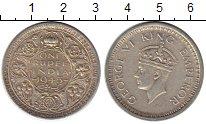Монета Индия 1 рупия Серебро 1945 XF фото