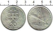 Монета Португалия 20 эскудо Серебро 1966 UNC