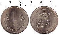 Монета Гренландия 1 крона Медно-никель 1964 UNC- фото