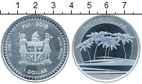 Монета Фиджи 1 доллар Серебро 2018 UNC фото