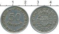 Изображение Монеты Сан-Томе и Принсипи Сан Томе и Принсисипи 50 сентаво 1951 Медно-никель VF